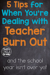Tips for teachers who are feeling burned out and frustrated before the end of the year.