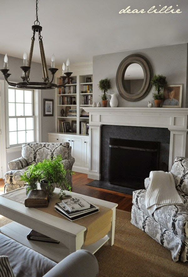 Dear lillie other featured spaces - Benjamin moore stonington gray living room ...