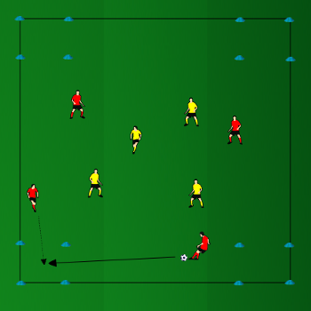 J Aime Le Foot J Aime Le Soccer Exercice Tactique 4 Contre 4 Et Passes Dans La Course