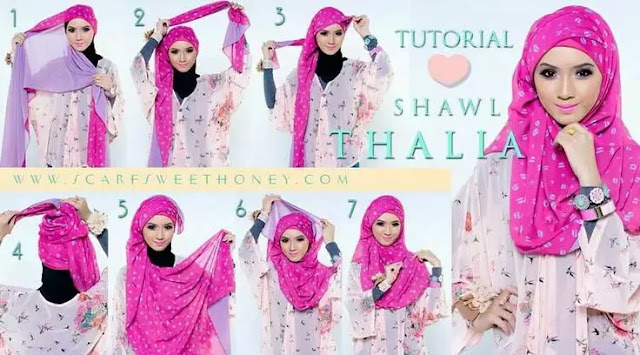 Tutorial Hijab Pashmina Segi Empat Simpel