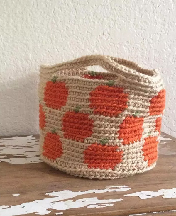 Pumpkin Basket by Desert Blossom Crafts