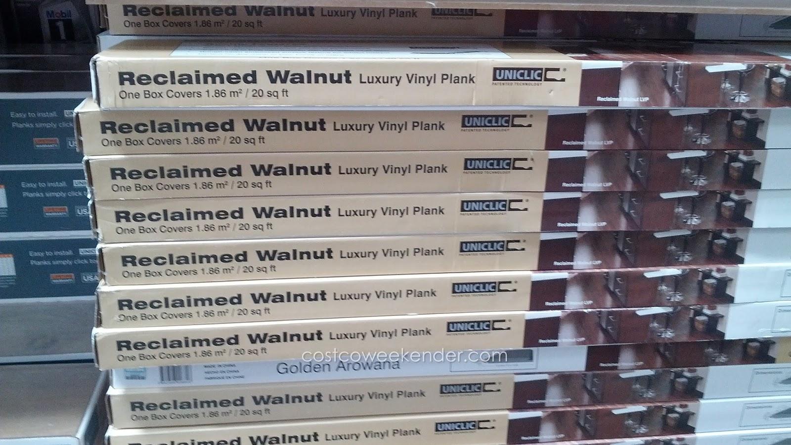 Golden Arowana Reclaimed Walnut Luxury Vinyl Plank Cost Effective Alternative To Hardwood Floors