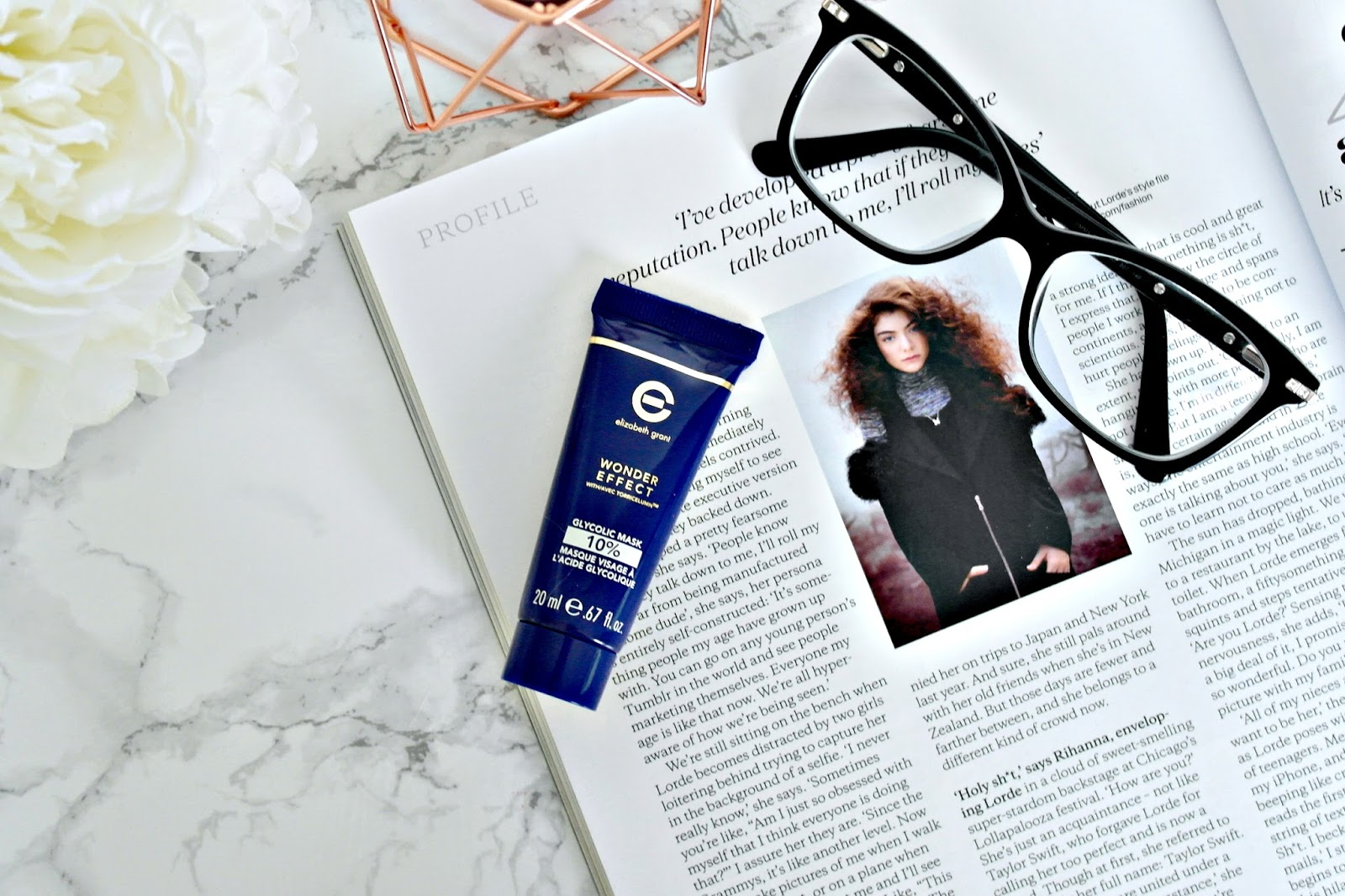 ideal world, elizabeth grant, wonder effect glycolic face mask