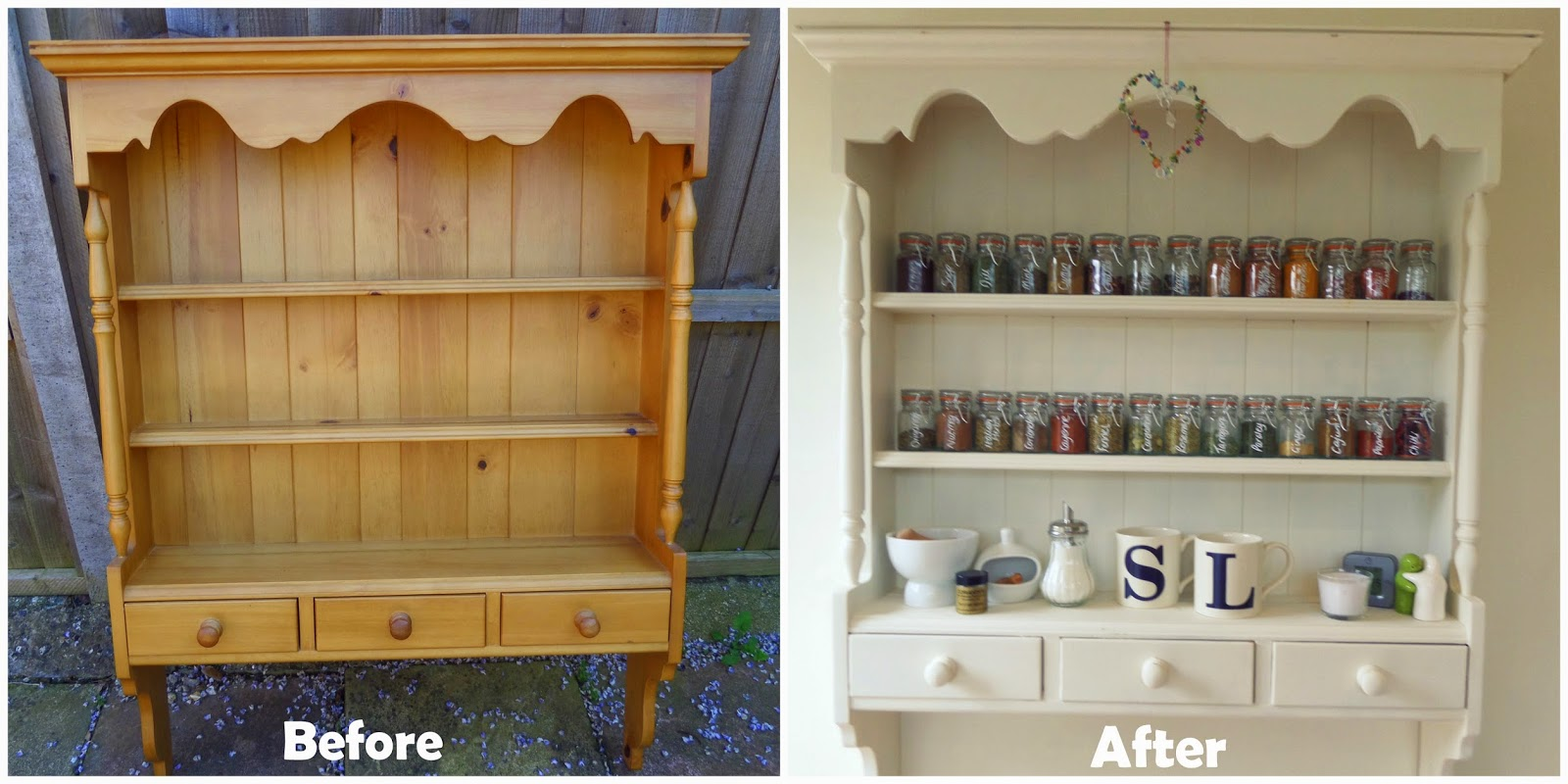 diy shabby chic spice rack from ebay lauren loves blog. Black Bedroom Furniture Sets. Home Design Ideas