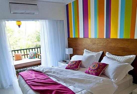 quarto de casal colorido
