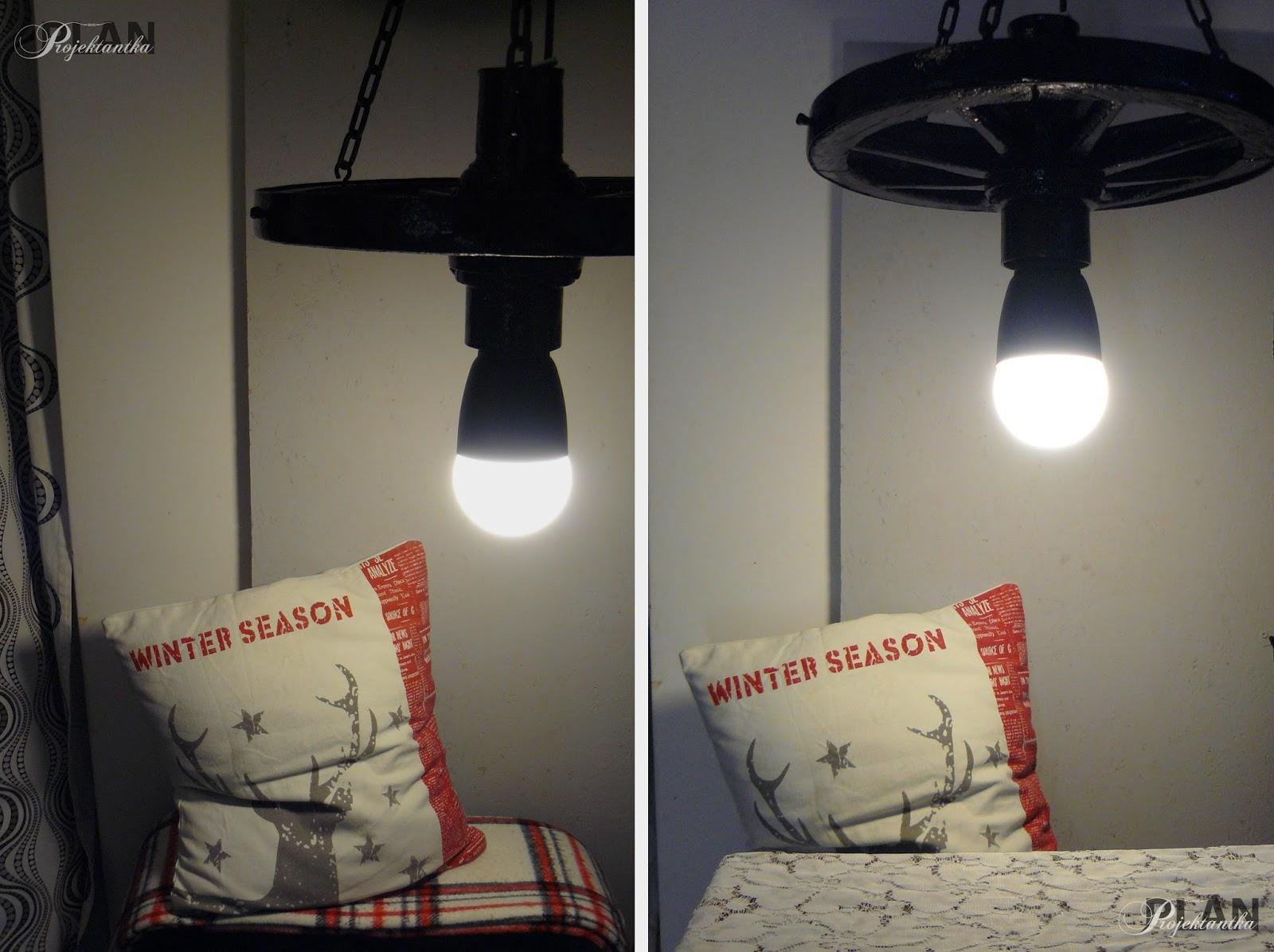 Jak zrobić lampę ze starego koła?