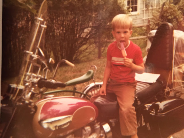 Joe's passion for motorcycling started on his Dad's 67' Triumph
