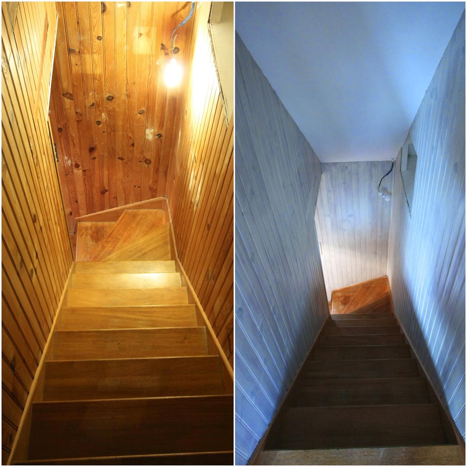 un nouveau regard avant apr s d 39 une entr e en lambris. Black Bedroom Furniture Sets. Home Design Ideas