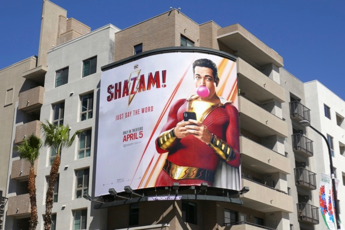 Zachary Levi Shazam billboard