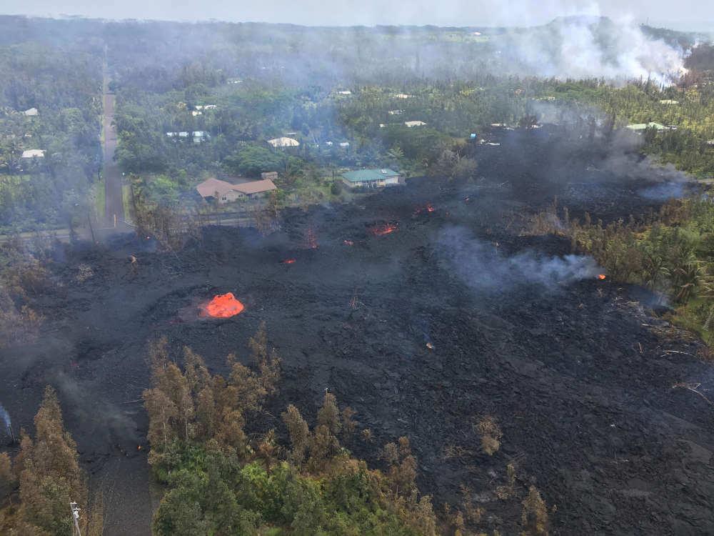 Incredible Video Of Lava Flowing Down Hawaiian Streets