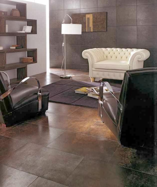 Diseño de sala blanca y marrón