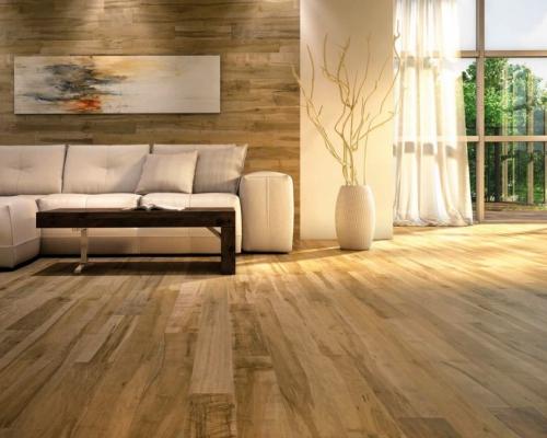 Sử dụng sàn gỗ sồi tự nhiên cho không gian sang trọng và sáng hơn