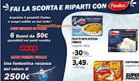 Logo ''Fai la scorta e viaggia'' con Findus vinci 150 buoni spesa Coop da 50€: anticipazione!