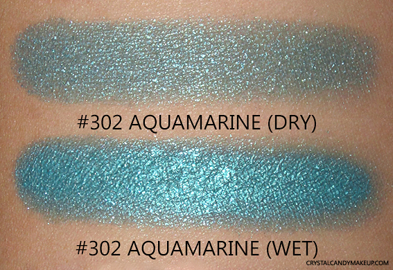 PUPA Milano Vamp! Wet & Dry Eyeshadows Review 302 Aquamarine Swatch