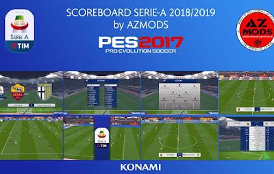 PES 2017 Scoreboard Serie A TIM 2018/2019 by AZ Mods