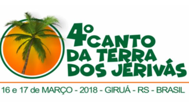 Inscrições para o 4º Canto da Terra dos Jerivás se encerram no dia 28 de fevereiro