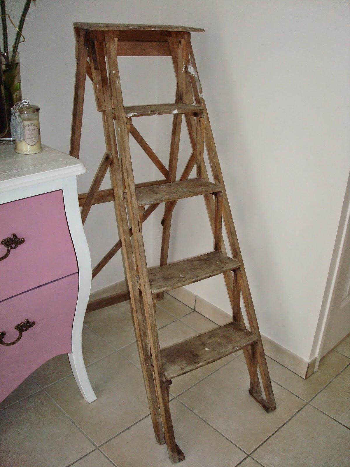 Deco Avec Une Echelle En Bois la déco d' alia: peau neuve pour l'échelle en bois