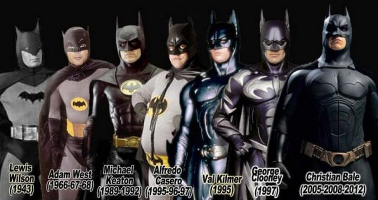 Evolution of the movie Batman : batman costume evolution  - Germanpascual.Com