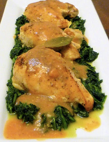 Chicken w/ Mustard and Brandy Gravy