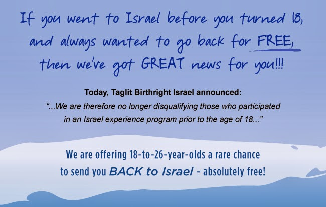 Birthright Israel does 180 on previous Peer Educational Trip Experience Policy