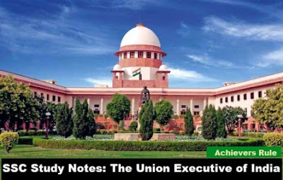 SSC Study Notes The Union Executive of India