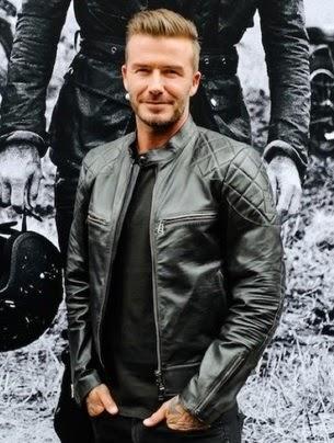 Gambar Jaket Kulit David Beckham