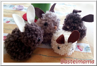 Ostern, Hasen, Pompom, Wolle