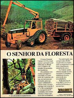 propaganda trator florestal Valmet 1976, Valmet anos 70, trator florestal década de 70, Oswaldo Hernandez,