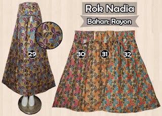Jual rok panjang rayon motif indah model terkini edisi terbaru