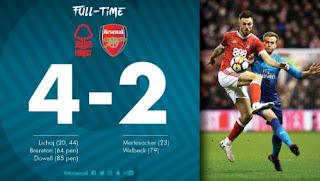 Nottingham Forest vs Arsenal 4 - 2