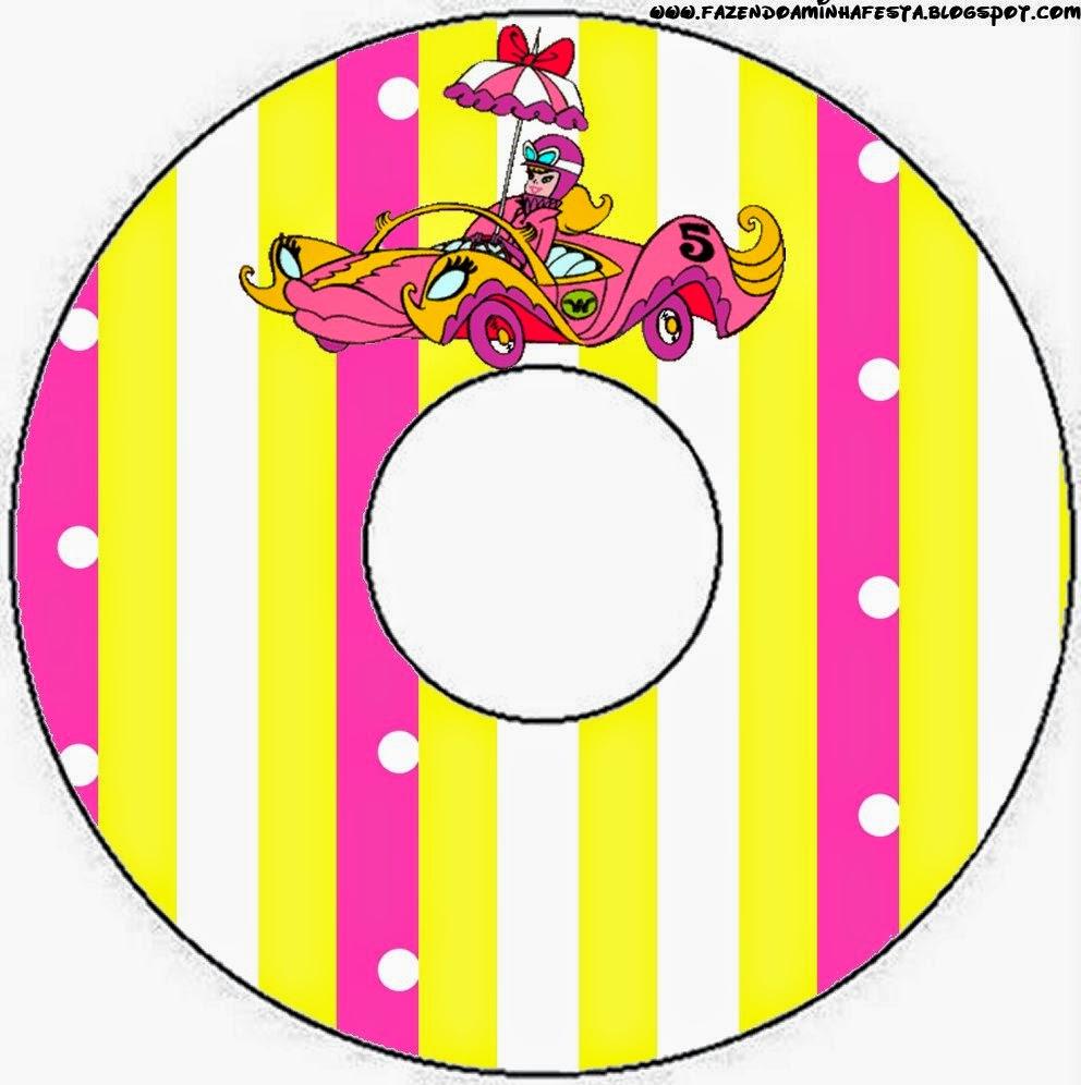 Etiquetas de Penelope Glamour Retro para CD's.