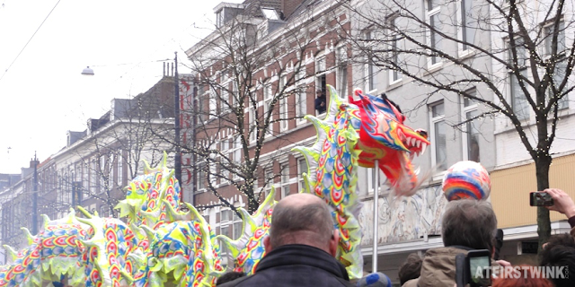 Chinese new year celebration in Rotterdam, the Netherlands
