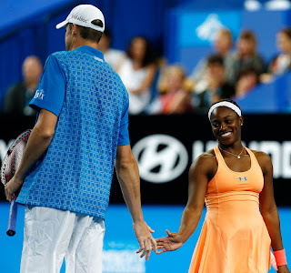 Jack Sock Ex Girlfriend Sloane Stephens During Mixed Doubles Match
