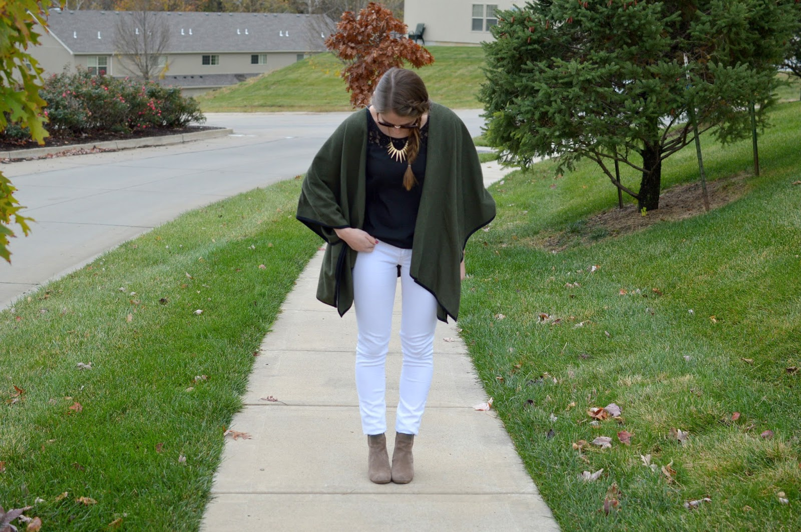 different ways to style a poncho