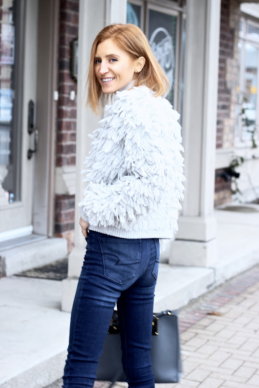 Fringe Cardigan Cool | pastels and pastries