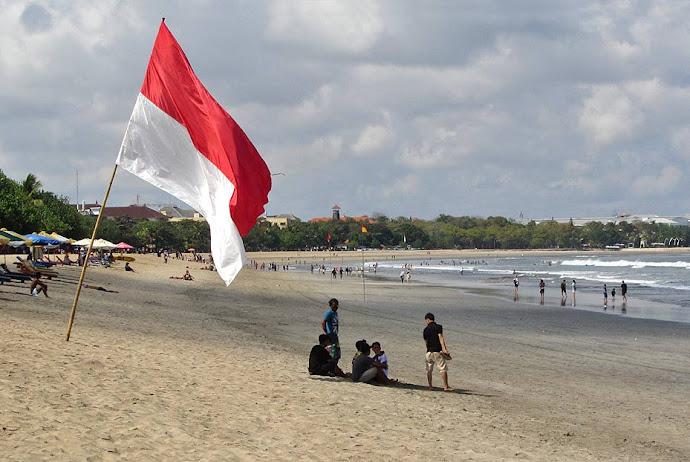 Bandera en la playa