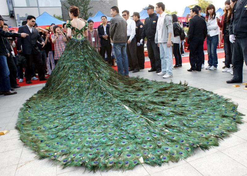 peacock feather wedding dresses designs wedding dress - Dress Design Ideas