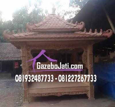 Gazebo Atap Tingkat Jati