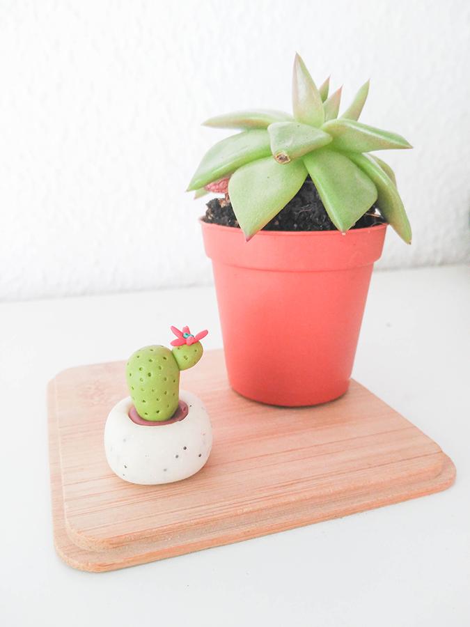 como hacer cactus fimo