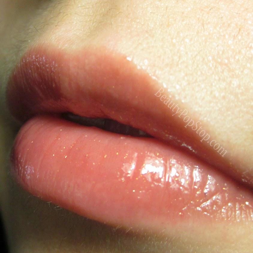 tarte cosmetics lipsurgence lip gloss fearless swatch