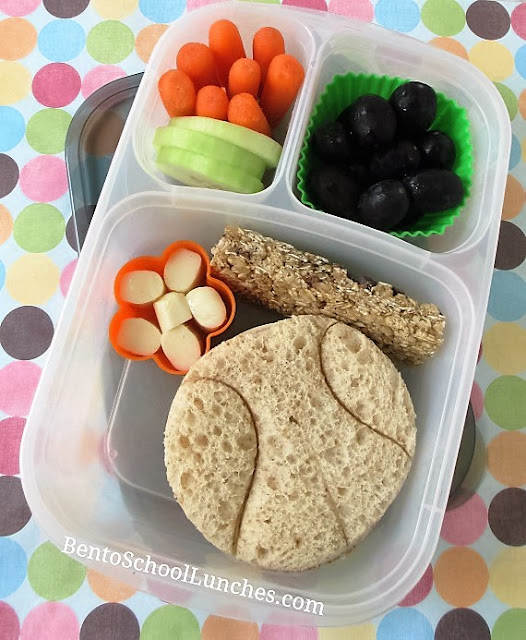 Basketball themed school lunch.