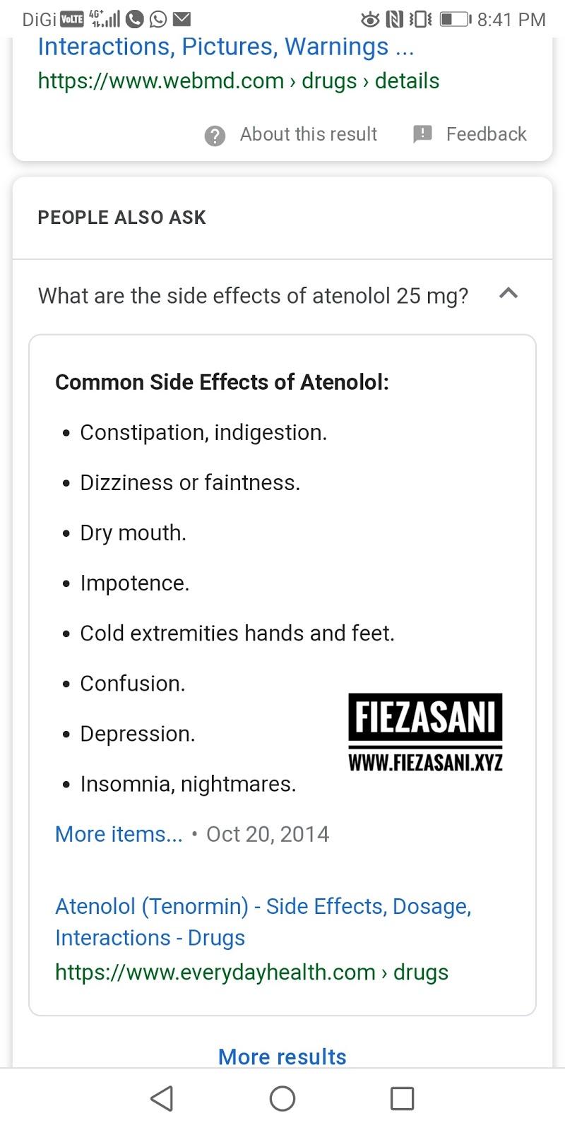 Side Effect Ubat Darah Tinggi Antenolol 100mg