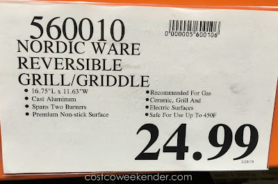 Deal for the Nordic Ware Reversible Grill Griddle at Costco