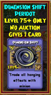 Dimension Shift - Wizard101 Card-Giving Jewel Guide