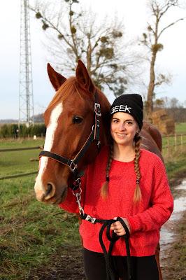 Portrait avec mon cheval.