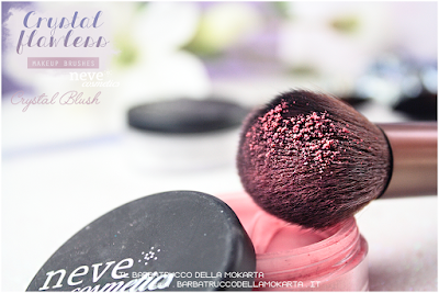 Crystal blush blush powder NeveCosmetics Crystal Flawless Brushes