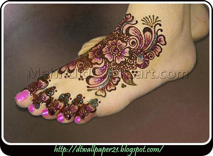 Mehndi Ceremony Background Wallpapers : Desktop wallpaper background screensavers: girl foot mehndi