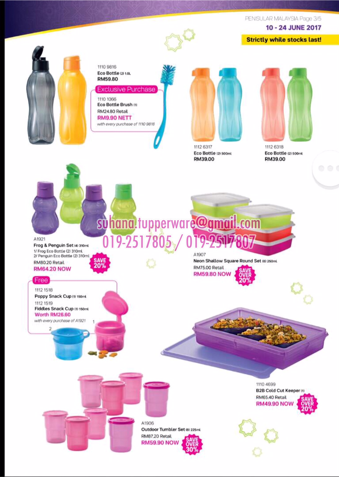 Tupperware Brands Malaysia Online Catalogue Collection Eco 310ml 4 Neon Bottle Contact Us Now For Special Price