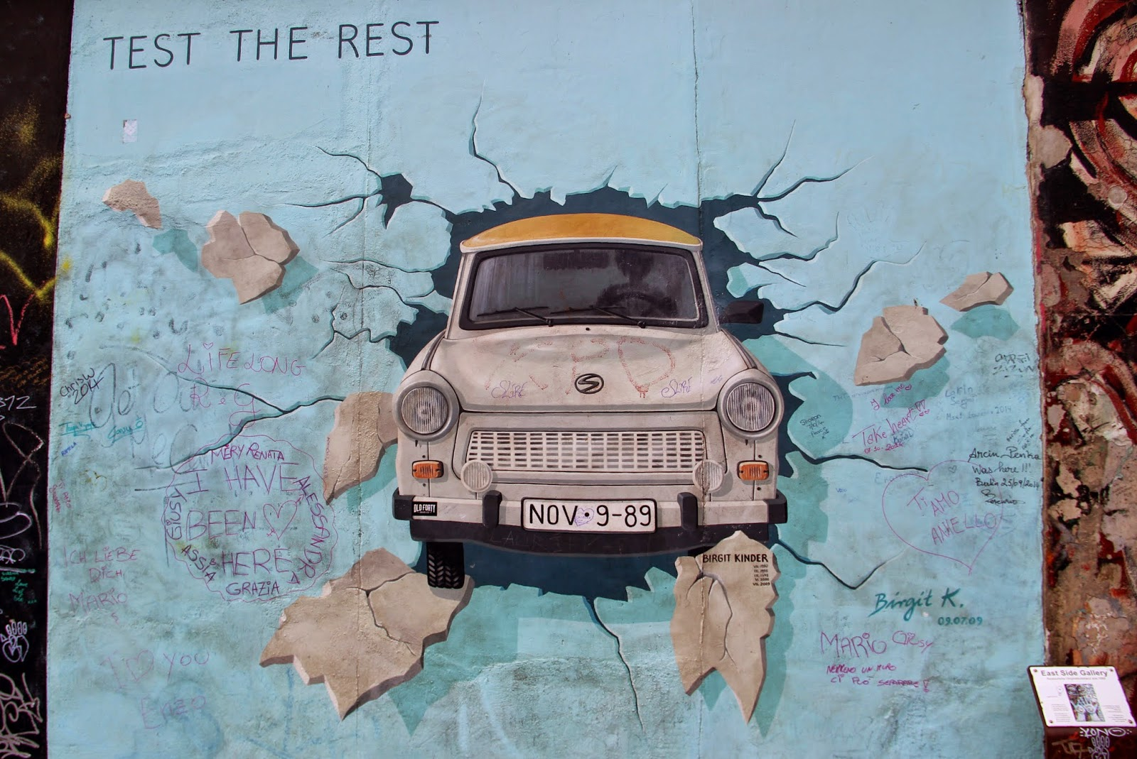 "Берлинская стена, ""East Side Gallery"""