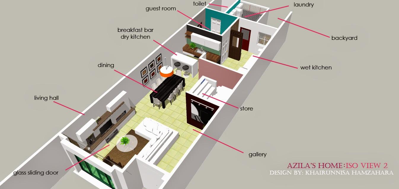 Rekabentuk Hiasan Dalaman Rumah Teres Dengan Konsep Moden Simple Dan Luas